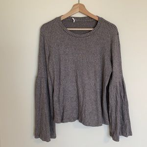 Lush Ribbed Bell Sleeve Sweater